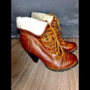 MIA Aubry ankle boots featuring a faux fur lining